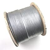 Marine Grade Stainless Steel T316 Wire Rope / Cable Railing 7x19 - 3/16'' - 1000ft