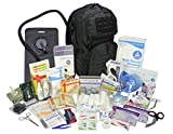 Lightning X Stocked Modular Trauma & Bleeding First Aid Responder Medical Backpack + Kit + Hydration Bladder - Black