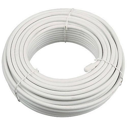 Bulk Hardware BH01477 75 Ohm Coaxial Cable for Digital or Analogue TV, White, 10 Metres (33 feet)
