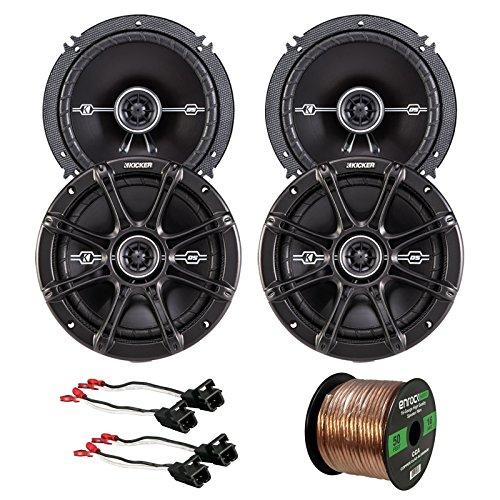 Car Speaker Bundle Combo: 2 Pairs of Kicker 43DSC6504 6.5