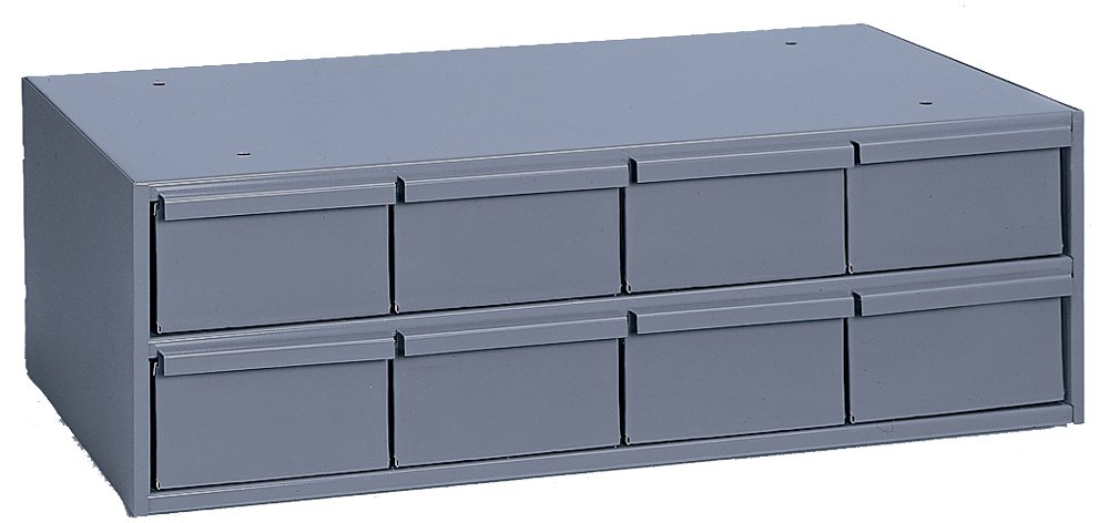 Durham 003-95 Gray Cold Rolled Steel Storage Cabinet, 22-3/4 Width x 7-3/8 Height x 11-5/8 Depth, 8 Drawer by Durham The Durham Manufacturing Company