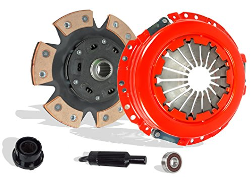 6 Puck Clutch Kit - Clutch Kit Works With Gmc Canyon Chevy Colorado Isuzu I-280 I-290 Z71 Z85 SL SLE SLT WT Extended Fleet 2004-2012 2.8L 2770CC 169Cu. In. l4 GAS DOHC Naturally Aspirated (6-Puck Disc Stage 2)