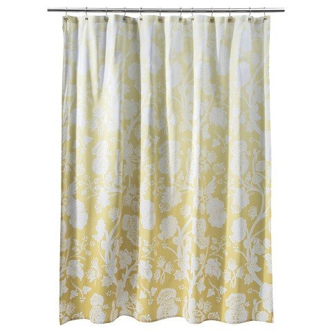 Amazon threshold ombre floral shower curtain yellow home amazon threshold ombre floral shower curtain yellow home kitchen mightylinksfo