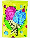 Cheap Carson Home Accents Single Applique Flag, Ice Cream, Large