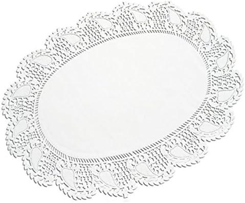 Tortenspitzen oval 27 x 36 cm 250 Stück weiß