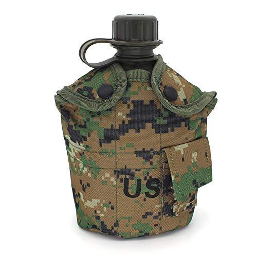 Publicado anteriormente en EE. UU. G.I. Cubierta de nailon militar de 1 litro para cantina de oliva, con botella de aceite de...