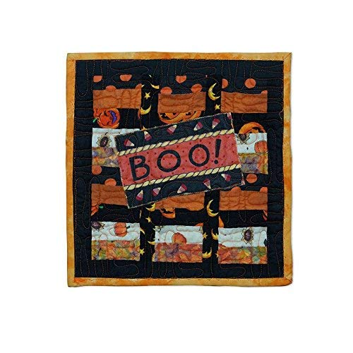 Halloween Mug Rug Quilted Patchwork Cotton Snack Mat Desk Mat Hot Pad]()