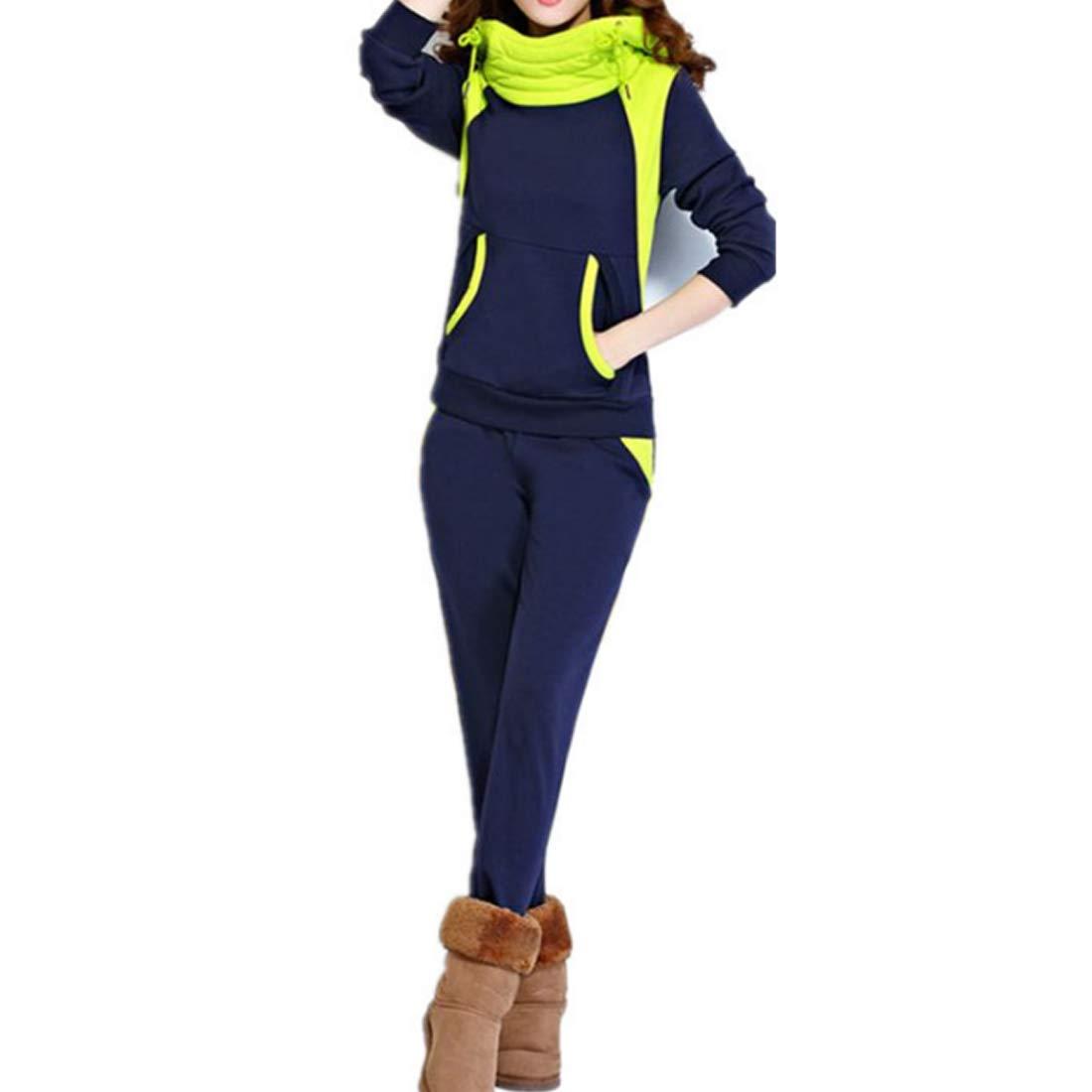 Huicai Women's Sports Suit Stitching Color Drawstring 2 Piece Set Casual wear Huicai Co. Ltd