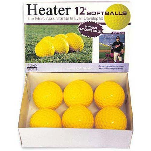 Heater Sports 12 Inch Pitching Machine Softballs by the Dozen