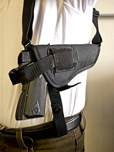 OUTBAGS USA NSH04 (RIGHT) Nylon Horizontal Shoulder Holster w/ Double Mag Pouch. Family owned & operated. Made in USA