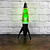 Neon Green Rocket Lava Lamp