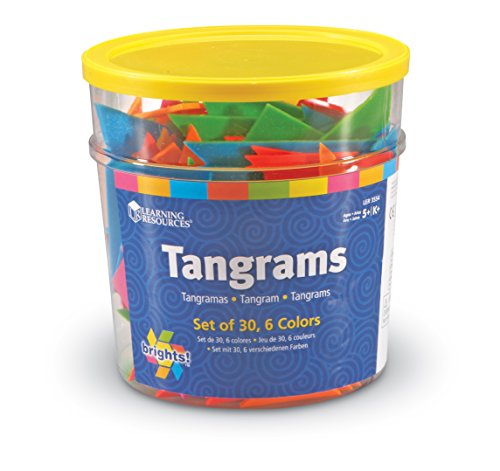 (Learning Resources Brights! Tangrams Class Pack, Shape Recognition, 30 Plastic Pieces, Ages 5+)