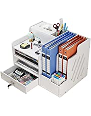 $32 » Desk Drawer Organizer Paper Organizers,Office Home Drawer Organizer,Document File Organizer for Desk with 4 Tiers/2 Sections/Pen Holder/Tissue Holder, Desk Organizers and Accessories with Drawer
