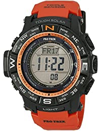 Men's PRW-3500Y-4CR Atomic Black Digital with Red Resin Band, Watch