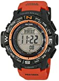 Casio Men's PRW-3500Y-4CR Atomic Black Digital with Orange Resin Band Watch