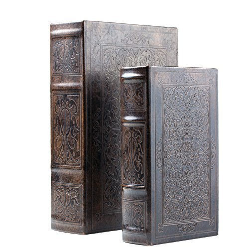 (2pc Faux Book Safe Set)