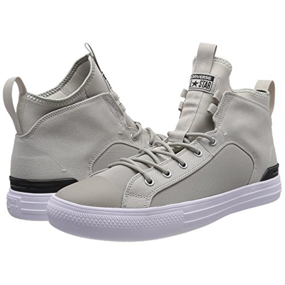 Converse Ctas Ultra Mid Pale Grey black white Sneaker A Collo Alto Unisex – Adulto