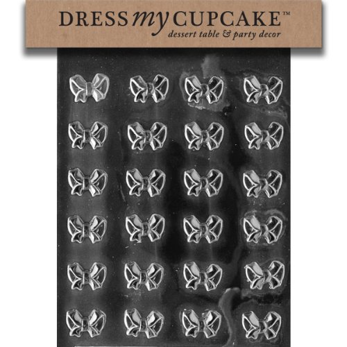 - Dress My Cupcake Bite Size - Small Bows Chocolate Mold - M082 - Includes Melting & Chocolate Molding Instructions