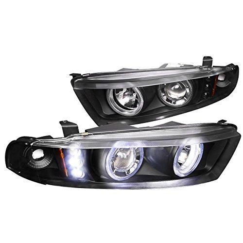 Mitsubishi Galant Headers - Spec-D Tuning 2LHP-GAL99JM-APC Black Projector Headlight