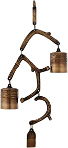 Achla Designs WIB-04 Contemporary Hanging Temple Zen Bells Windchime for The Home and Garden, Achl, Antique Brass