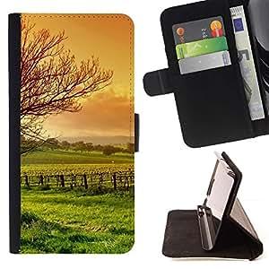 For Sony Xperia M5 E5603 E5606 E5653 Case , Naturaleza Hermosa Forrest Verde 3- la tarjeta de Crédito Slots PU Funda de cuero Monedero caso cubierta de piel