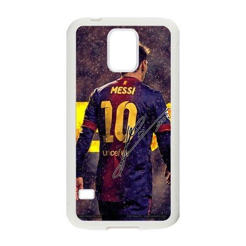 DIY Barcelona Soccer Futsal FC Messi Custom Case Shell Cover for Samsung Galaxy S5 Case (Laser Technology)