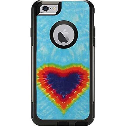 finest selection ccf09 f8842 Amazon.com: Tie Dye OtterBox Commuter iPhone 6 Skin - Tie Dye Heart ...