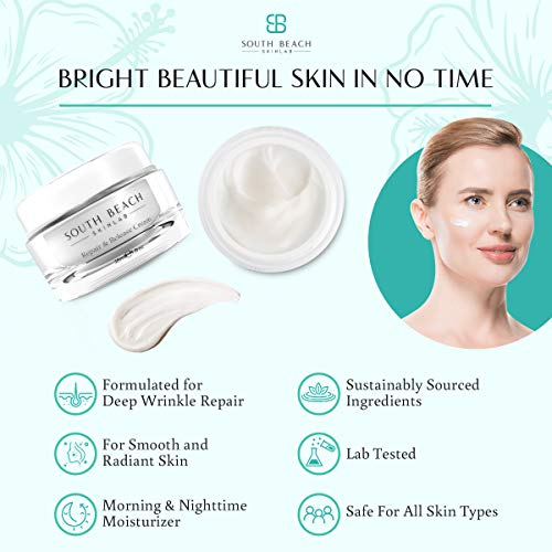 South Beach Skin Lab - Repair and Release Cream - 1 Oz. - Doctor Formulated to Fight Stubborn Fine Lines & Wrinkles - Lab Tested - For All Skin Types - Morning & Night Cream