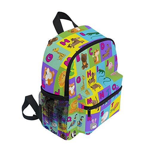 Girls School Pre for Boy ZZKKO Kindergarten Bag Backpack ABC Animal Toddler Kids Cute Alphabet qW0YzOq