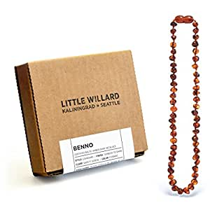 Lab Tested Amber Teething Necklace by Little Willard (Cognac)