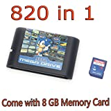 DODOING 820 in 1 Game Cartridge 16 Bit Video Game Card for Sega Mega Drive Genesis Console