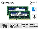 Timetec Hynix IC Apple 8GB Kit (2x4GB) DDR3 1333MHz PC3-10600 SODIMM Memory Upgrade for MacBook Pro 13/15/17 inch Early/Late 2011,iMac 21.5-inch Mid/Late 2011,27-inch Mid 2011,Mac Mini 5,1 & 5,2 Mid