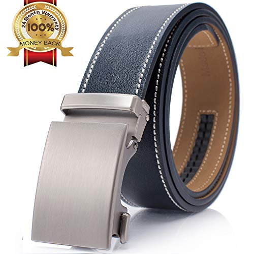 Mens Ratchet Slide Leather Adjustable Belt Super Great Price w/ Code