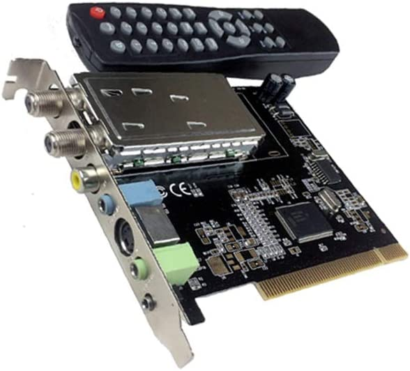 AllAboutAdapters Universal Analog TV Tuner FM Tuner DVR Video Capture PCI Card for Desktop PC