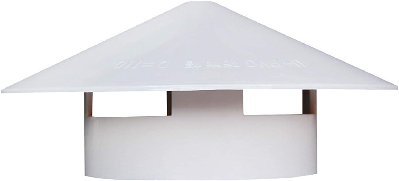 JSONA Tapa de la Cubierta de la Chimenea Cubierta de la Chimenea de PVC Cubierta Protectora para la Lluvia Cubierta Protectora para la Lluvia y la Nieve Olla, Protector de Humos para tuberías, fác