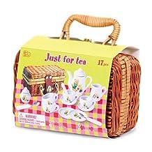 TEDDY BEAR'S PICNIC - Child's Teddy Bear Family Mini Tea & Picnic Set for Children