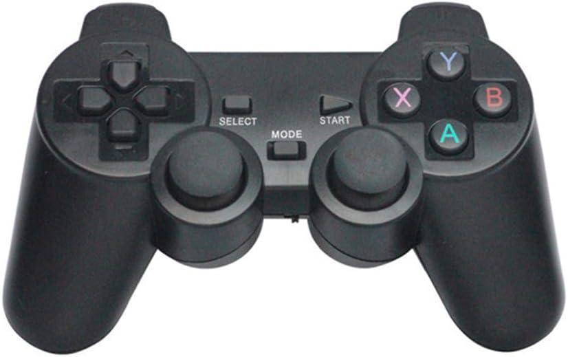 LHTE Controlador de Juegos, Gamepad, PC Controladora de Juegos Inalámbrica 2.4G para la Palanca de Mando de PS3 TV Box Compatible con iPhone/Android/PC