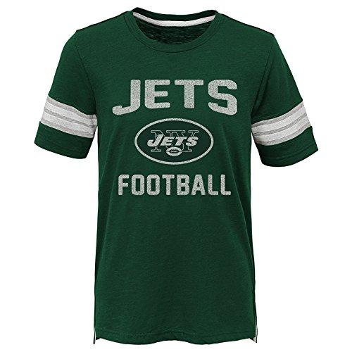 Outerstuff NFL NFL New York Jets Kids Prestige Short Sleeve Crew Neck Tee Hunter Green, Kids Large(7)