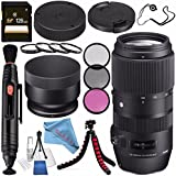Sigma 100-400mm f/5-6.3 DG OS HSM Contemporary Lens for Nikon F 729955 + 67mm 3 Piece Filter Kit + 67mm Macro Close Up Kit + 128GB SDXC Card + Lens Pen Cleaner + Fibercloth + Lens Capkeeper Bundle