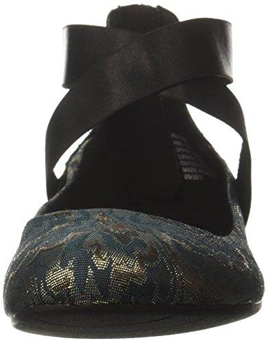 Cinturino Alla Caviglia Elasticizzato Pro-time Da Donna Di Reazione Kenneth Cole, Ballerina Posteriore In Stoffa Con Zip