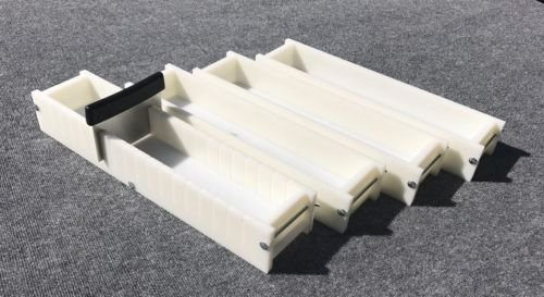 Lot of 3 HDPE Soap Loaf Making Mold and Multi Slot Soap Cutter 5 - 6 lb per mold by GDD (Image #1)