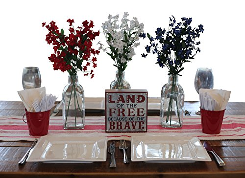 Patriotic Table Decoration Kit. Red, White & Blue. Memorial Day. Fourth