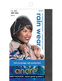 Diane Andre Rain Wear 855 Rain Visor, Black, One Size Fits All, 1 Count