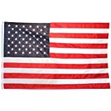 US Flag 3X5 ft (Embroidered stars - sewn stripes)
