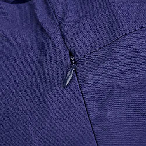 Da Vestito Partito Senza Maniche Sera Rockabilly Abito Cocktail Capestro Ftvogue Floreale line A Swing Stile Vintage Donna Bowknot V Scollo T zp5wEqEPFx