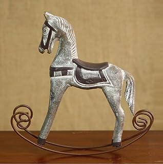 Amazon.com: UChic 1PCS Wood Retro Old Horse Rocking Furnishing ...