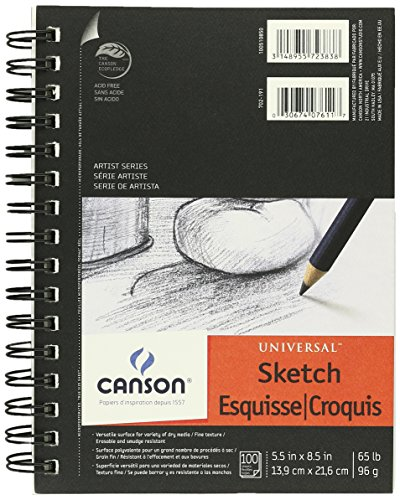 Canson Universal Sketch Paper Pad 5.5 x 8.5 : 100 Sheets (3 Pack)