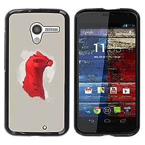 Stuss Case / Funda Carcasa protectora - Dragón rojo lindo - Motorola Moto X 1 1st GEN I