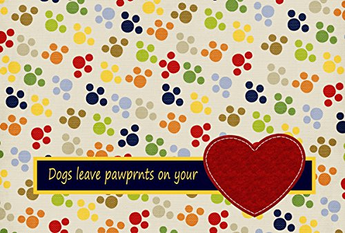 Multicolor Carolines Treasures SB3054PLMT Dogs Leave Paw Prints On Your Heart Fabric Placemat