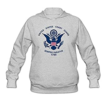 QDYJM Women's United States Coast Guard Flag Hoodie- XXL Ash